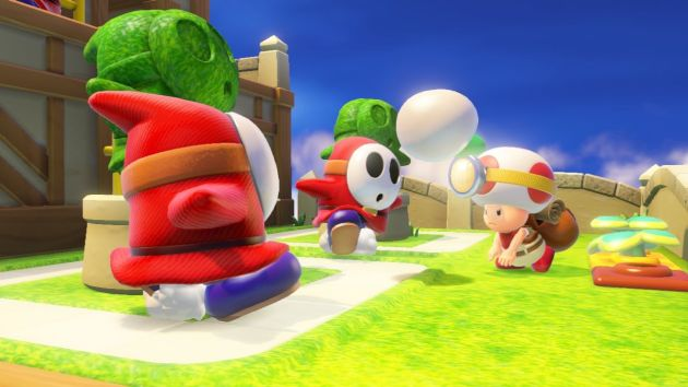 Toad, con la parquedad de acciones, raramente podrá servirse de algo más que un vegetal para combatir a sus verdugos